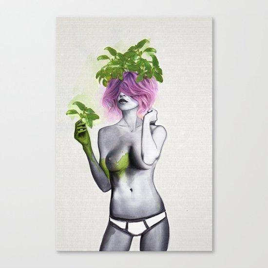 Garden Girls 1 - Basil Canvas Print