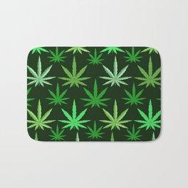 Marijuana Green Leaves Weed Bath Mat