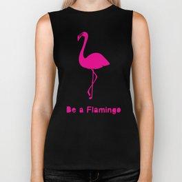 Flamingos Surface Pattern Design Biker Tank