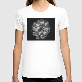 Analogue Glitch Skull Ring T-shirt