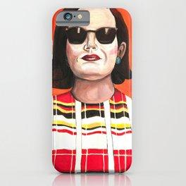 Peggy Olson Poster, Mad Men TV Print, Drawings Feminist Icon Portrait, Minimalist Wall Art Decor, Nursery Art iPhone Case