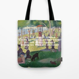 A Sunday Afternoon with Eleanor Rigby Tote Bag