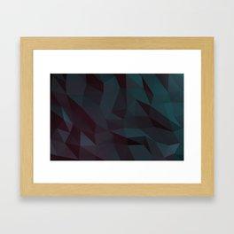 low poly Framed Art Print