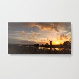 An evening on the River Metal Print