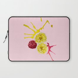 watercolor pink and yellow flowers Laptop Sleeve