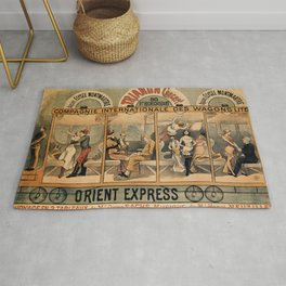 1896 Orient Express musical revue Paris Rug