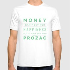 Prozac Nation SMALL White Mens Fitted Tee