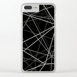 Geometric lines Clear iPhone Case