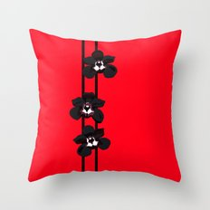 Black Orchids Throw Pillow