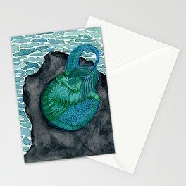 Sleeping purrmaid Stationery Cards