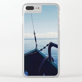 Sail the horizen Clear iPhone Case