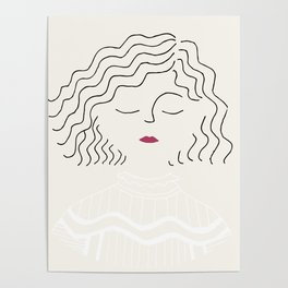 Sophie in white dress Poster