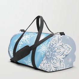 Christmas ball with snowflakes Duffle Bag