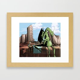 Pibby and the Jabberwock Framed Art Print