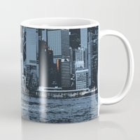 hong kong Mugs featuring Star Ferry Hong Kong by Phil Smyth