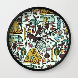 Whimsical Wilderness Wall Clock