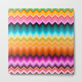 Chevron design fashion 90s Metal Print