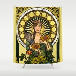 Queen of gluten/Goddess of harvest Shower Curtain