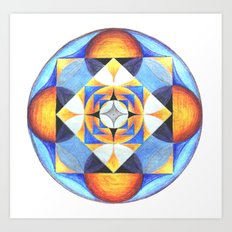 Solar Kaleidoscope (ANALOG zine) Art Print