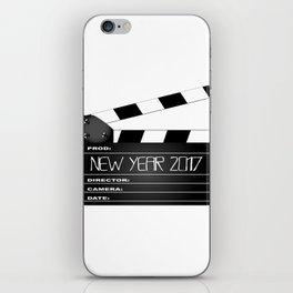 New Year 2017 Clapperboard iPhone Skin
