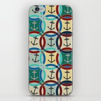 anchors iPhone & iPod Skins featuring anchors by Sharon Turner