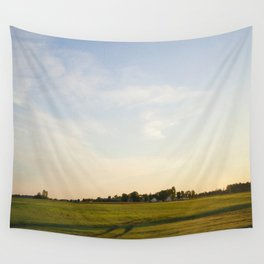 Midwest Fields Sunrise Wall Tapestry