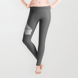 Home is California - state outline in gray Leggings