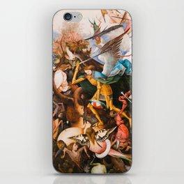 The Fall Of The Rebel Angels 1562 By Pieter Bruegel The Elder iPhone Skin
