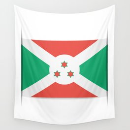 Flag of Burundi.  The slit in the paper with shadows. Wall Tapestry