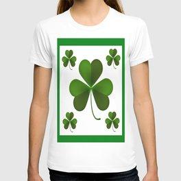 LUCKY GREEN IRISH SHAMROC T-shirt