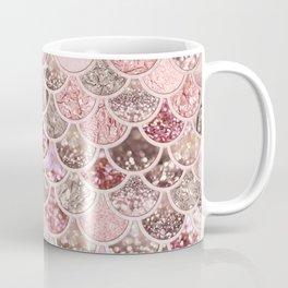 Rose Gold Blush Glitter Ombre Mermaid Scales Pattern Coffee Mug