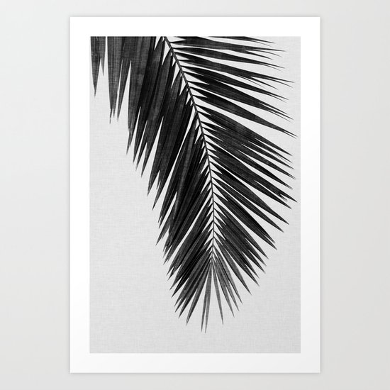 Palm Leaf Black & White I by paperpixelprints