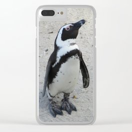 Little African Penguin Clear iPhone Case