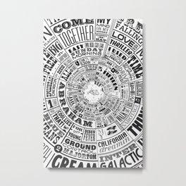 Musical Typewheel Metal Print