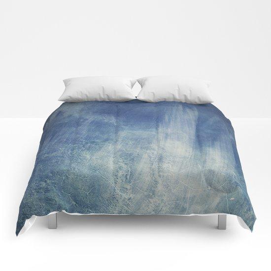 texture bleue Comforters