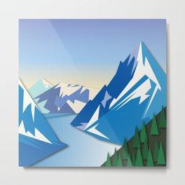 Night Mountains No. 53 Metal Print