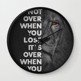 Lion Motivational Artwork Wall Clock