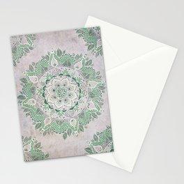 Spring Rain Mandala Stationery Cards