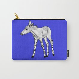 Somali Wild Ass foal - blue Carry-All Pouch