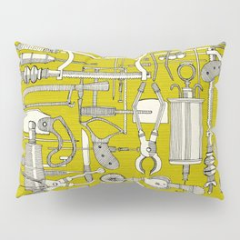 fiendish incisions chartreuse Pillow Sham