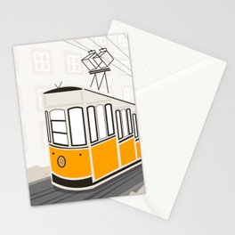 Lisbon, Portugal, Tram, Funicular, Ascensor da Bica Stationery Cards
