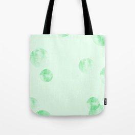Watercolor Polka Dot-Green Tote Bag