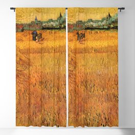 Arles View from the Wheat Fields_Vincent van Gogh  Dutch post-impressionist painter (1853–1890) Blackout Curtain