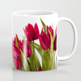 Red tulips bouquet sprinkled Coffee Mug