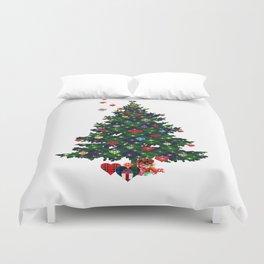 Plaid Christmas Tree Duvet Cover
