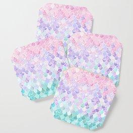 Mermaid Pastel Iridescent Coaster