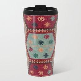 V31 Traditional Colored Moroccan Carpet. Travel Mug