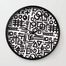 ABSTRACT 4 - BLACK & WHITE Wall Clock
