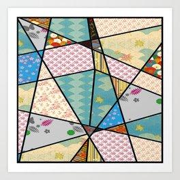 Mixed Pattern Perfect Square Art Print