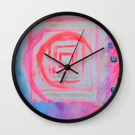 Blue Pink Wall Clock